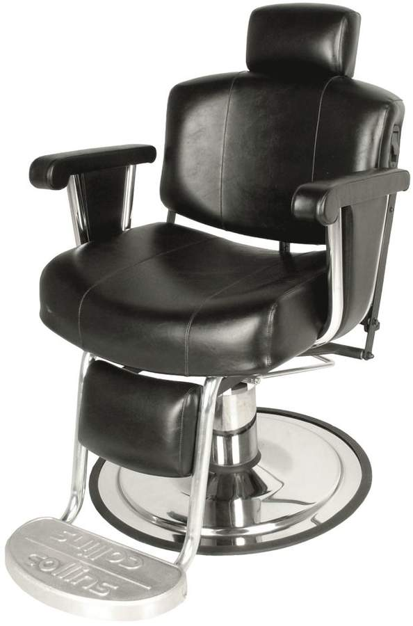 Collins Continental Barber Chair with Kick-out Footrest Wallaby Black