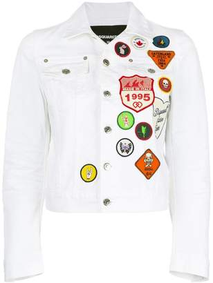 DSQUARED2 patch denim jacket