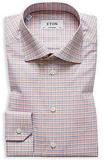 Eton Men's Contemporary Fit Plaid Dress Shirt