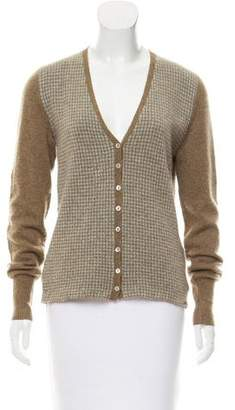 Loro Piana Cashmere Houndstooth Cardigan