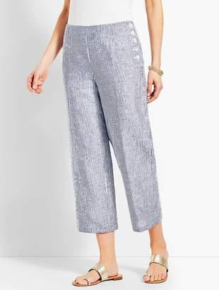 Talbots Chelsea Straight-Leg Crop Pant - Stripe