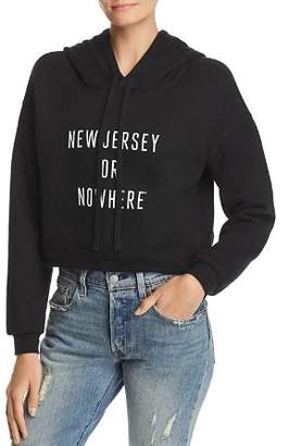 Knowlita New Jersey Or Nowhere Cropped Hooded Sweatshirt