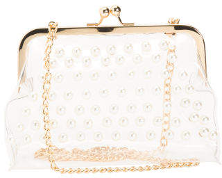 Clear Crossbody With Pearls