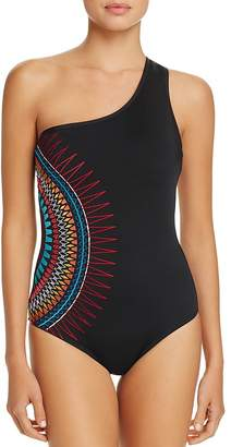 Laundry by Shelli Segal One-Shoulder One Piece Swimsuit