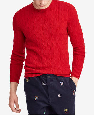 Polo Ralph Lauren Men Cable-Knit Cashmere Sweater