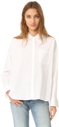 Theory Lourah Button Down Blouse $265 thestylecure.com