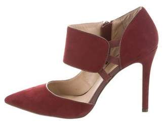 Saks Fifth Avenue Suede Pointed-Toe Pumps