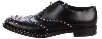 Prada 2009 Leather Studded Oxfords