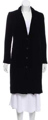 Chanel Velvet Knee-Length Coat