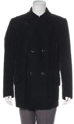Maison Margiela Velvet Double-Breasted Coat