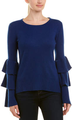 Qi Tiered Ruffle Sleeve Cashmere Sweater