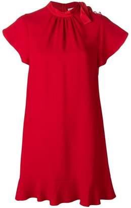 RED Valentino tied neck mini dress