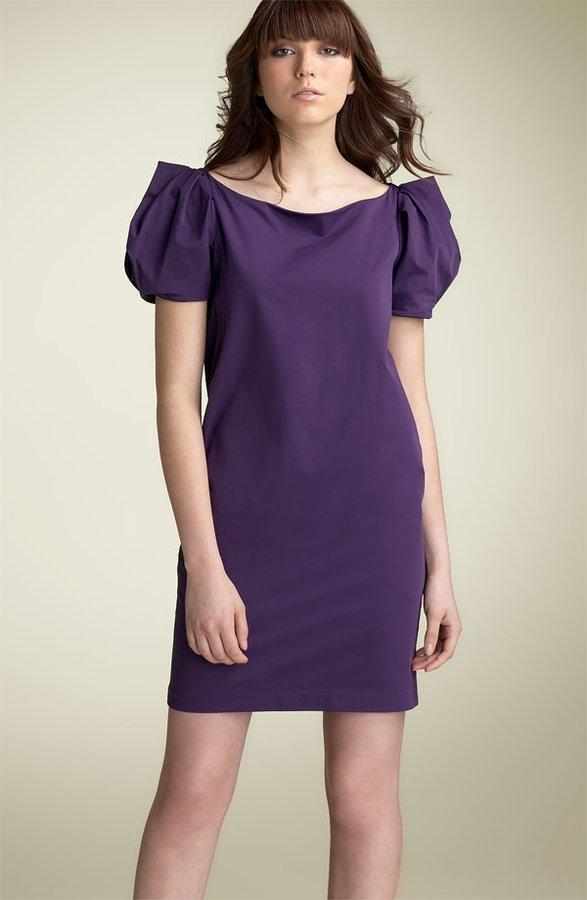 Diane von Furstenberg 'Lionel' Puff Sleeve Stretch Poplin Dress