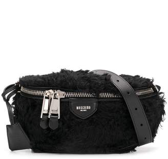 Moschino faux fur belt bag