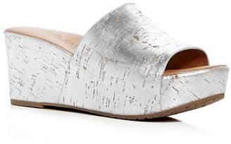 Kenneth Cole Gentle Souls Women's Forella Cork Platform Slide Sandals