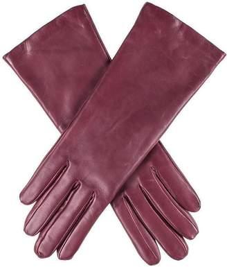 Black Burgundy Cashmere Lined Leather Gloves