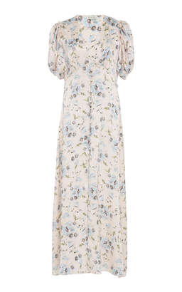 LoveShackFancy Delaney Floral Midi Dress