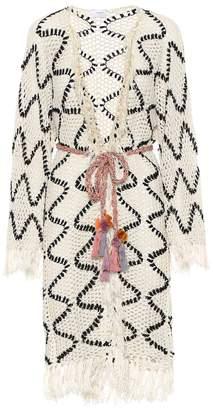 Anna Kosturova Modernista crochet cotton cardigan