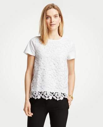 Ann Taylor Floral Lace Tee