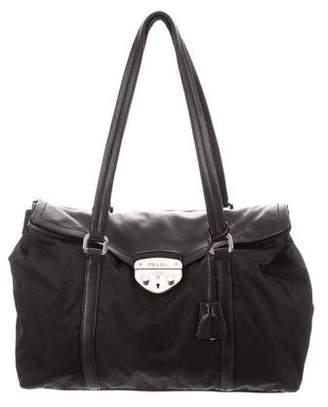 Prada Vitello Turn-Lock Shoulder Bag