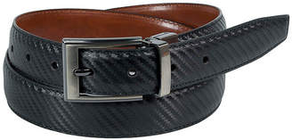 Asstd National Brand Dallas + Main Twill Embossed Reversible Dress Belt