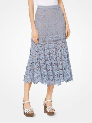 MICHAEL Michael Kors Mixed Floral Lace Skirt