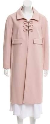 Paule Ka Virgin Wool Long Coat