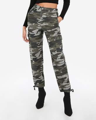 Express High Waisted Camo Utility Cargo Pants
