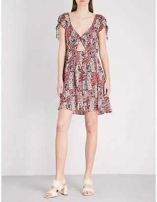 Free People Miss Right V-neck floral-print woven dress