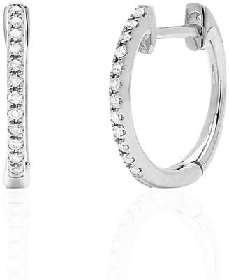 Ef Collection Diamond Mini Huggie Earrings