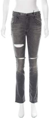 R 13 Mid-Rise Straight-Leg Jeans w/ Tags