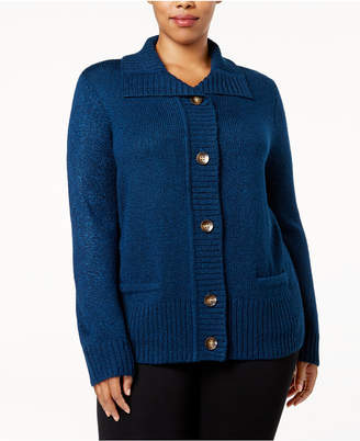 Karen Scott Plus Size Marled Cardigan