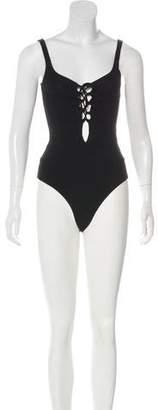 Reformation Sleeveless Lace-Up Bodysuit