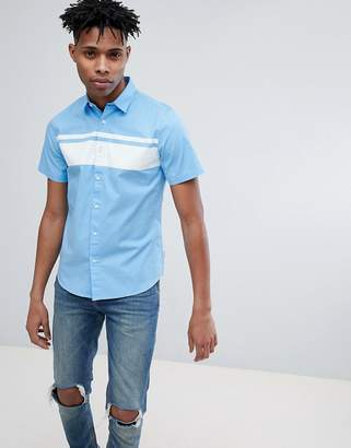 ONLY & SONS Short Sleeve Shirt With Panel Stripe