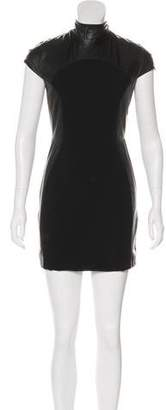 Gareth Pugh Leather Short Sleeve Tunic