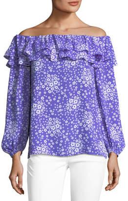 MICHAEL Michael Kors Off-the-Shoulder Mod-Floral Top