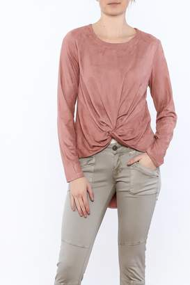 Loveriche Blush Faux Suede Top