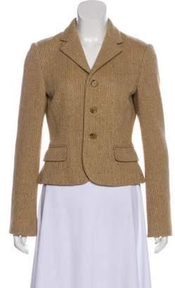 Ralph Lauren Wool Herringbone Jacket Tan Wool Herringbone Jacket