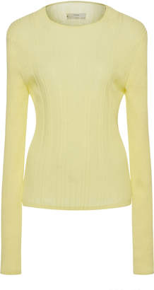 Vince Variegated Ribbed Cotton Top