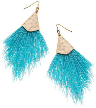 Canvas Tropical Retreat Feathered Drop Earrings
