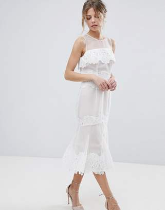 Coast Sarry Maselle Lace Midi Dress