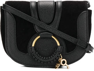 See by Chloe Mini Hana Suede And Leather Crossbody Bag
