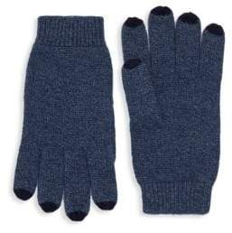Color-Tipped Cashmere Gloves