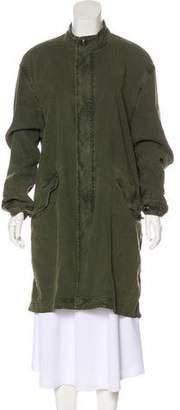 Vince Lightweight Drawstring Coat