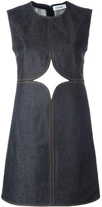 Courreges cut-off detailing denim dress
