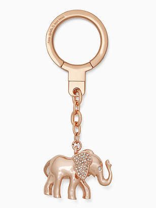 Kate Spade Jeweled elephant keychain