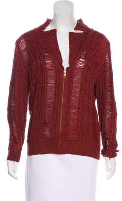 Opening Ceremony Rodarte x Rib Knit Zip-Up Sweater