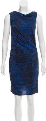 Helmut Lang Gathered Midi Dress