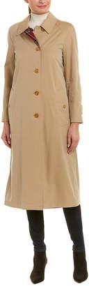 Burberry Reversible Tartan Wool & Gabardine Car Coat