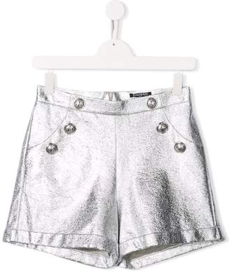 Balmain Kids coated terry shorts